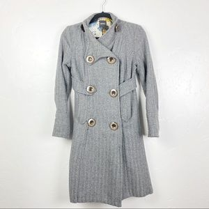 XOXO Dark Gray Button Up Long Sleeve Jacket
